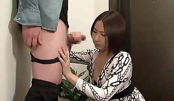 Horny Japanese whore in Hottest Handjob Blowjob JAV video
